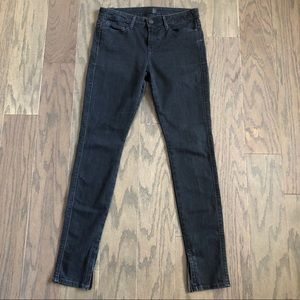 Vince Ankle Zippier Black Skinny Jeans